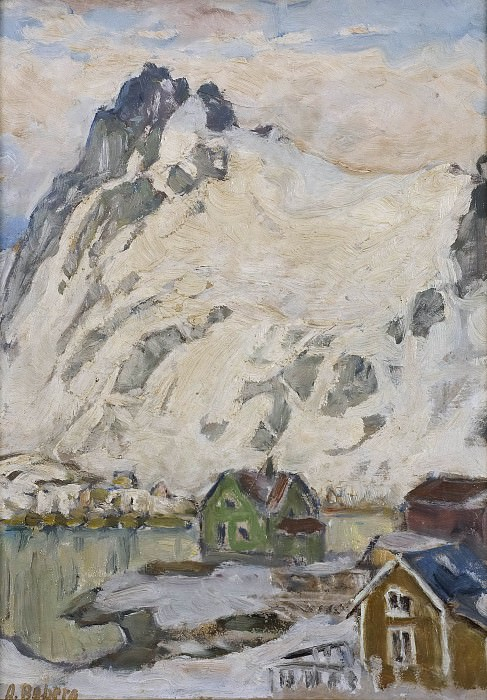 At the Foot of the Mountain. Study from Lofoten. Анна Боберг