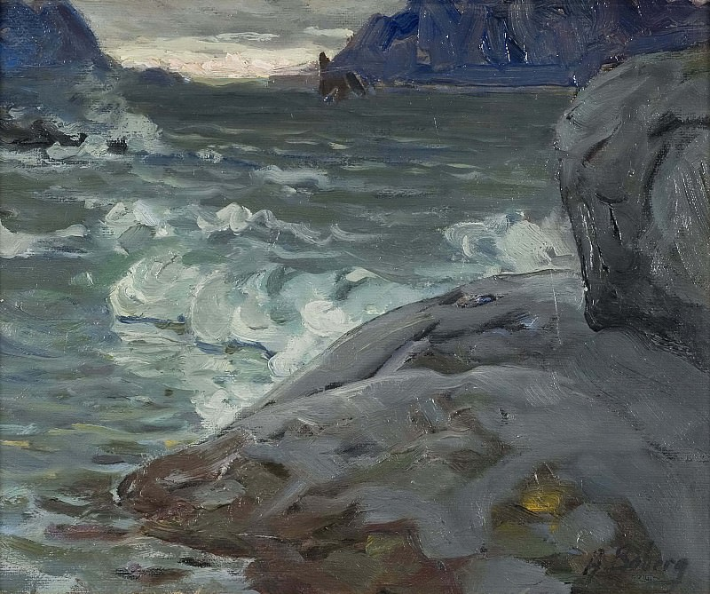 Beach. Study from North Norway. Anna Katarina Boberg
