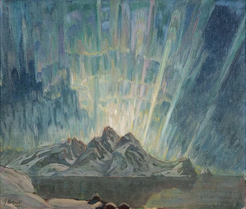 Northern Lights. Study from North Norway. Anna Katarina Boberg
