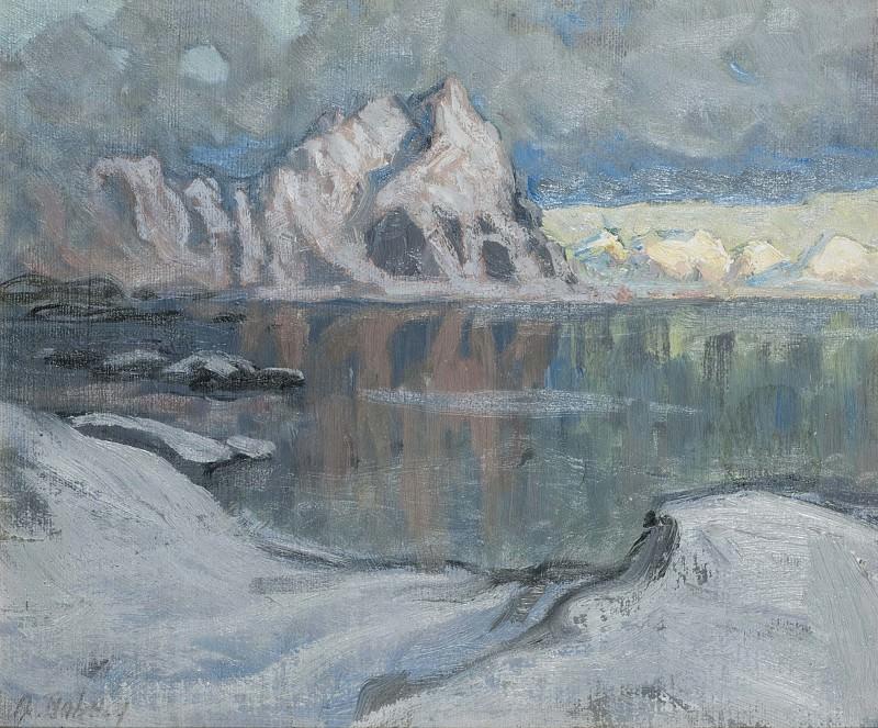 Boats between the Mountains. Study from Lofoten. Anna Katarina Boberg