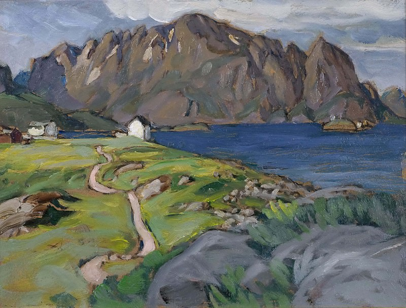 Summer, Store Molla. Study from Lofoten. Anna Katarina Boberg