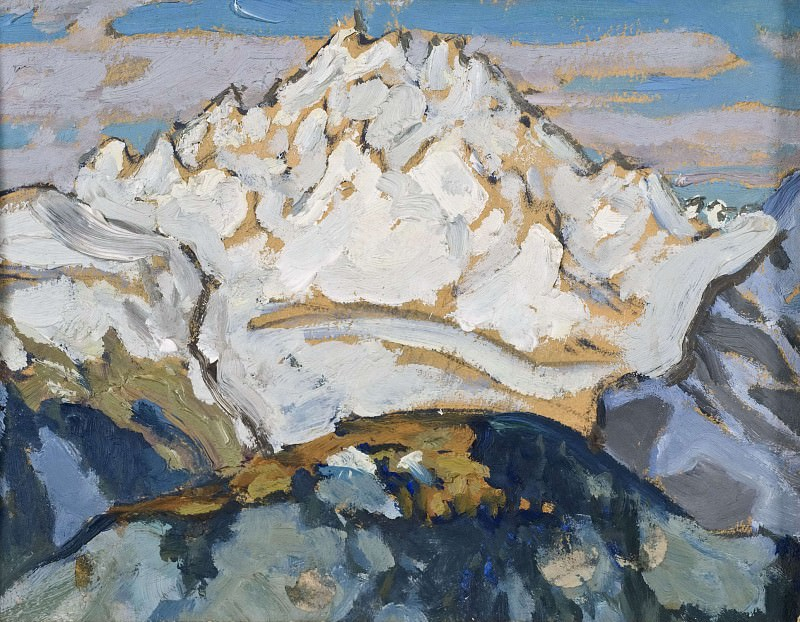 The White Mountain Top. Study from Switzerland. Anna Katarina Boberg