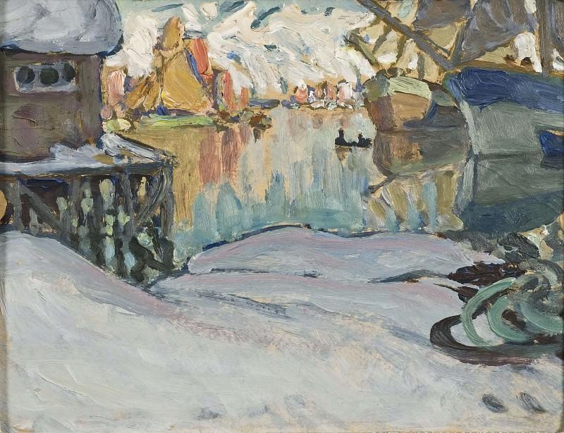 From Svolvaer Harbour. Study from Lofoten. Anna Katarina Boberg