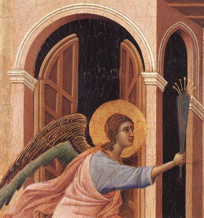 Marie dod forebadas, Maestaaltaret, (detalj), Dommuse. Duccio di Buoninsegna