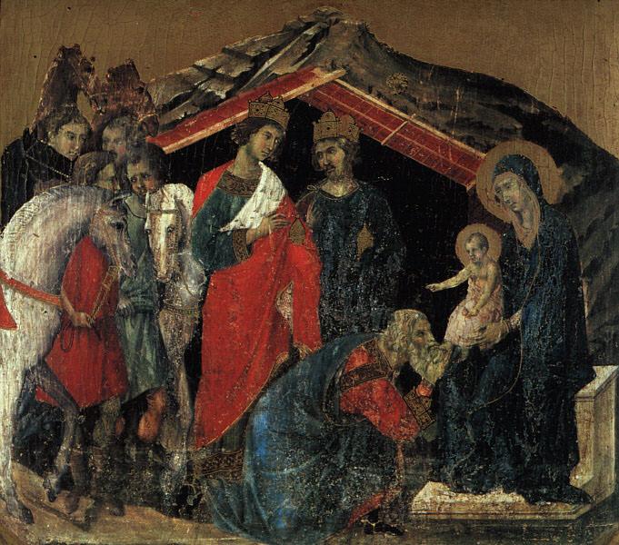 The Maesta Altarpiece, detail from the predella featu. Duccio di Buoninsegna