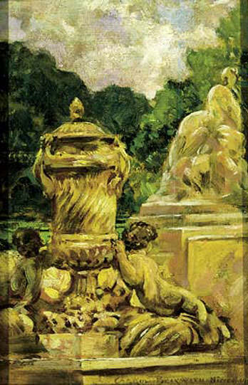 Jardin de la Fontaine Aa Nimes France. James Carroll Beckwith