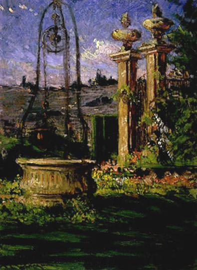 In the Gardens of the Villa Palmieri. James Carroll Beckwith