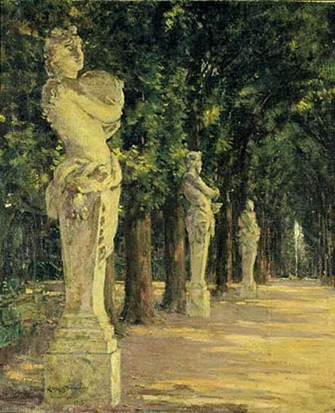 Allee de l-Ete Versailles. James Carroll Beckwith
