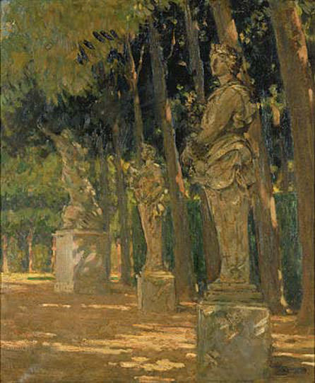 Carrefour at the End of the Tapis Vert Versailles. James Carroll Beckwith