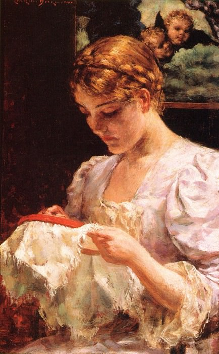 The Embroiderer. James Carroll Beckwith