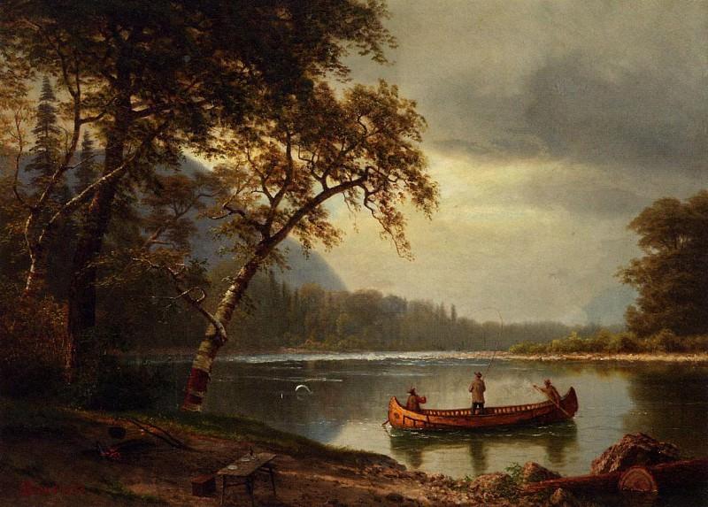 Ловля лосося в реке Каскапедиак. Альберт Бирштадт