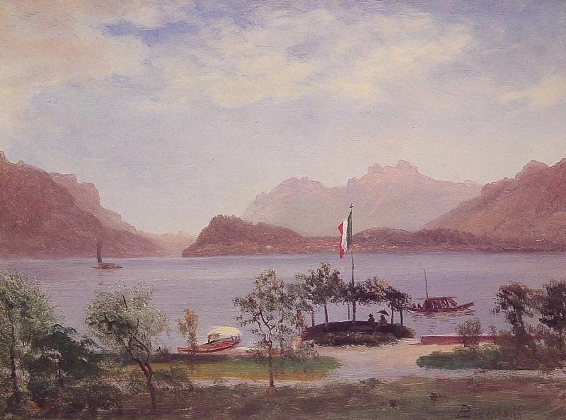 Этюд итальянского озера. Альберт Бирштадт