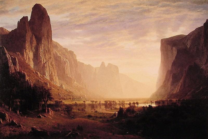 Взгяд сверху на Йосемитскую долину. Альберт Бирштадт