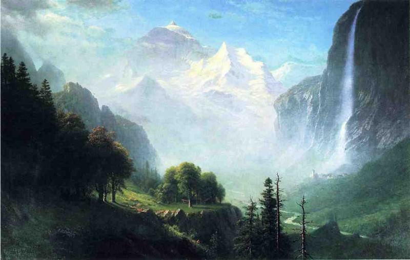 Водопад Штауббах близ Лаутербруннена, Швейцария. Альберт Бирштадт