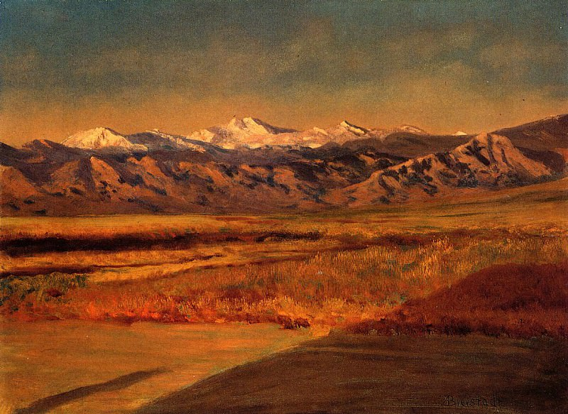 The Grand Tetons. Albert Bierstadt