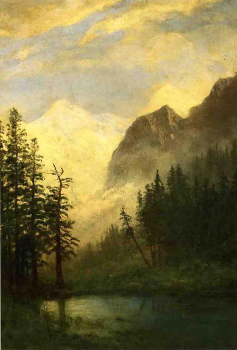 Mountain Landscape. Albert Bierstadt