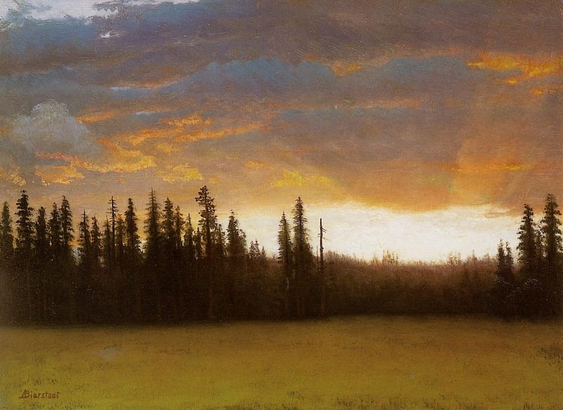 California Sunset. Albert Bierstadt