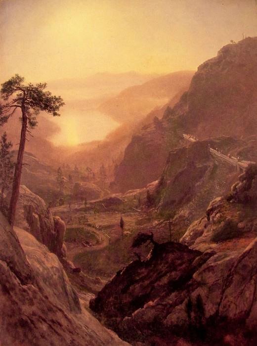 Вид на озеро Доннер. Альберт Бирштадт