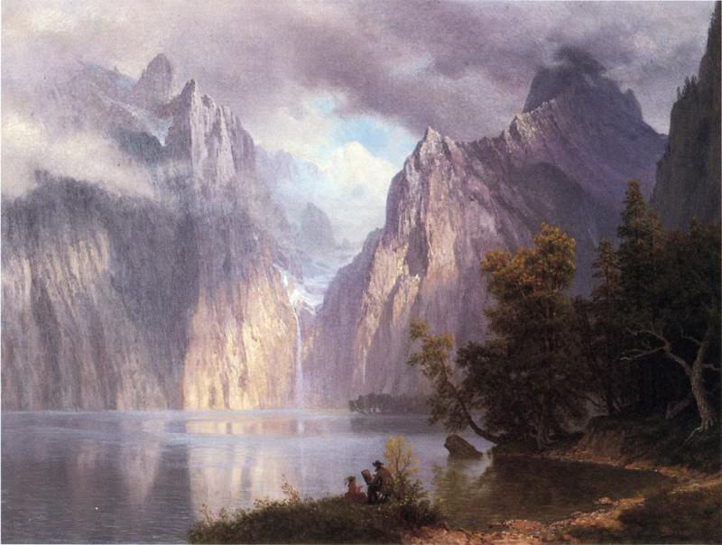 Scene in the Sierra Nevada. Albert Bierstadt