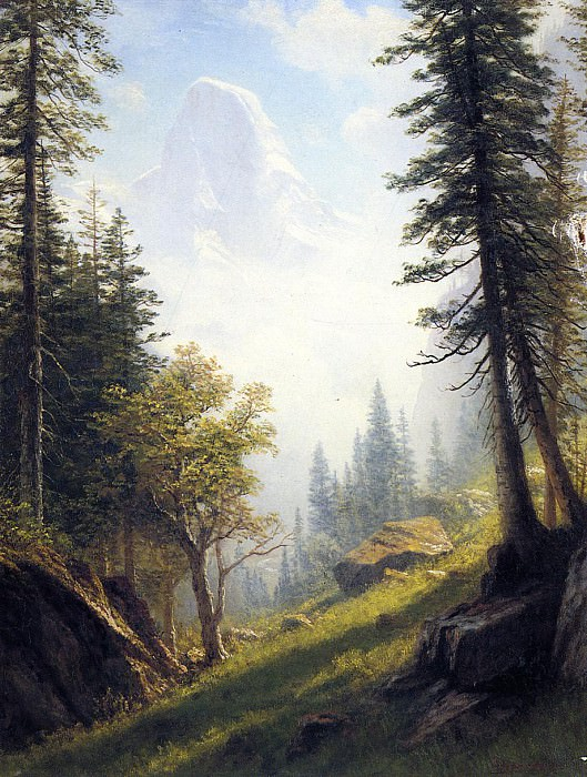 Among the Bernese Alps. Albert Bierstadt