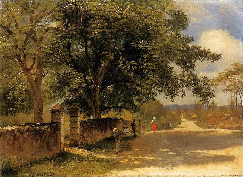 Bierstadt Albert Street in Nassau. Альберт Бирштадт