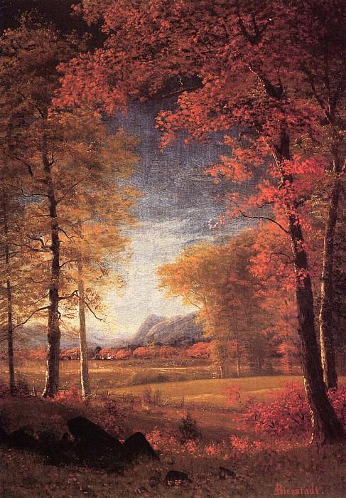 Autumn in America Oneida County New York. Albert Bierstadt