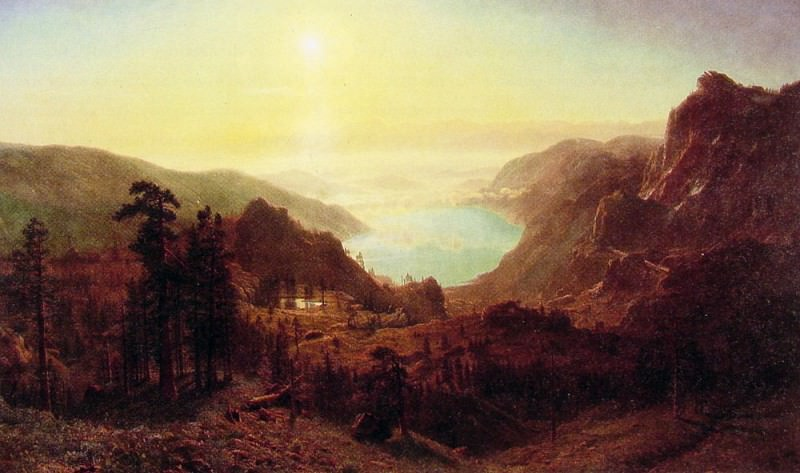 Donner Lake from the Summit. Albert Bierstadt