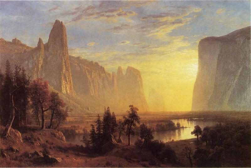 Yosemite Valley Yellowstone Park. Albert Bierstadt