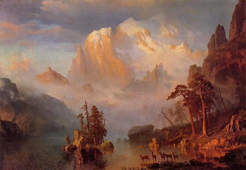 Bierstadt Albert Rocky Mountains. Альберт Бирштадт