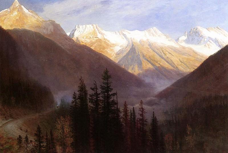 Восход на станции слежения за ледником. Альберт Бирштадт