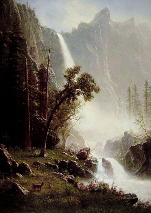 Bridal Veil Falls. Albert Bierstadt