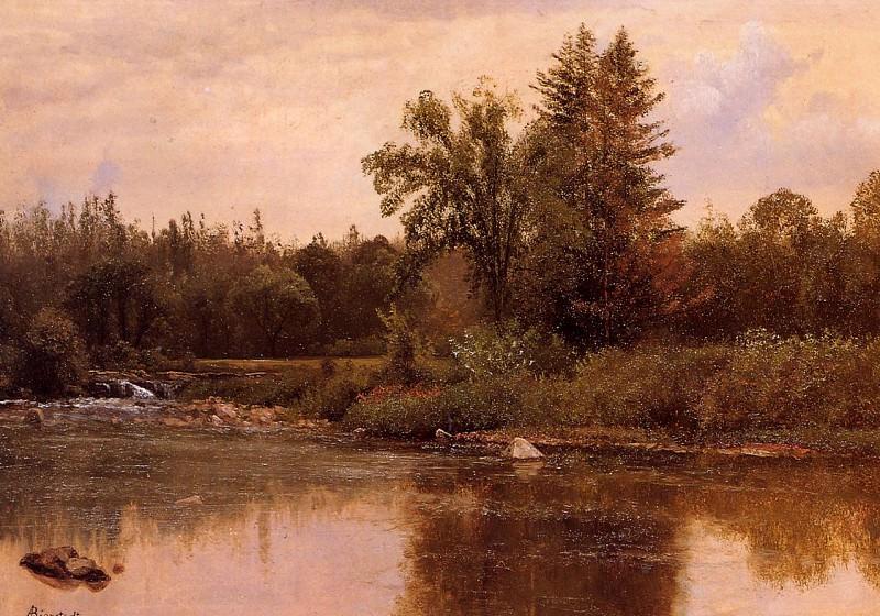 Landscape New Hampshire. Albert Bierstadt