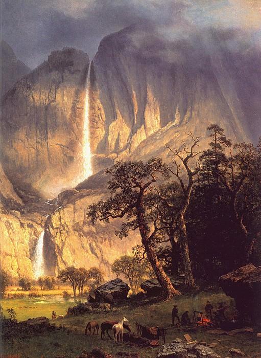 Йосемитский водопад Чолук. Альберт Бирштадт