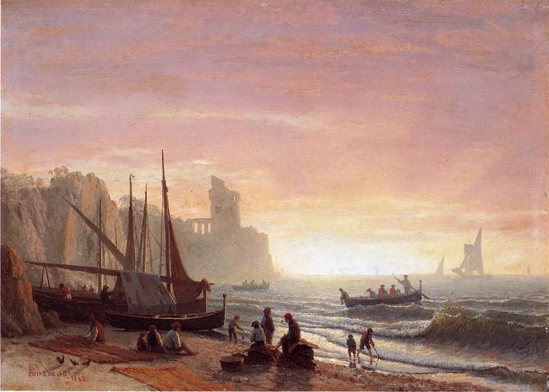 The Fishing Fleet. Albert Bierstadt