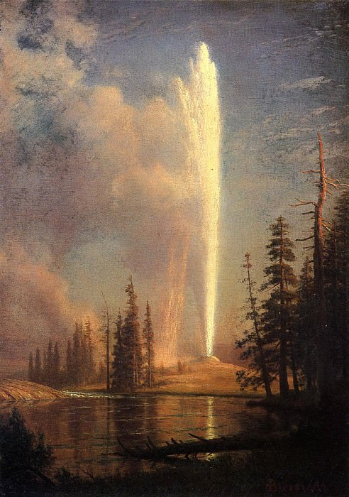 Old Faithful. Albert Bierstadt