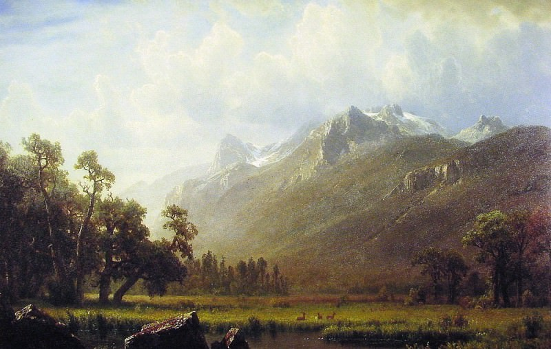 The Sierras near Lake Tahoe. Albert Bierstadt