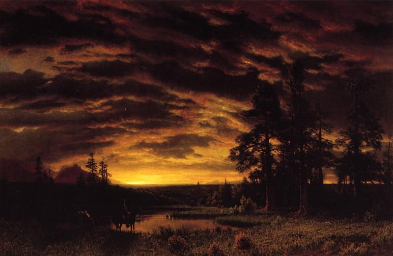 Evening on the Prarie. Albert Bierstadt
