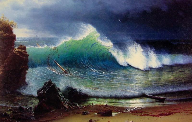 The Shore of the Turquoise-Sea. Albert Bierstadt