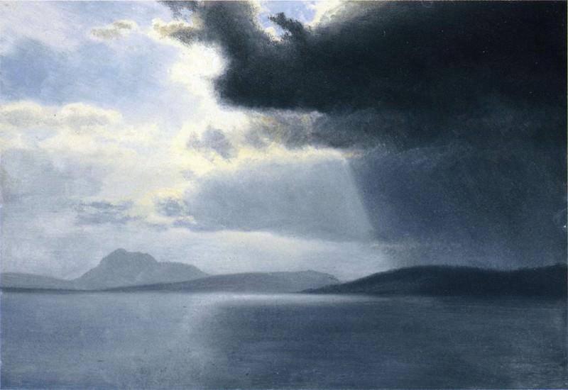 Approaching Thunderstorm on the Hudson River. Albert Bierstadt
