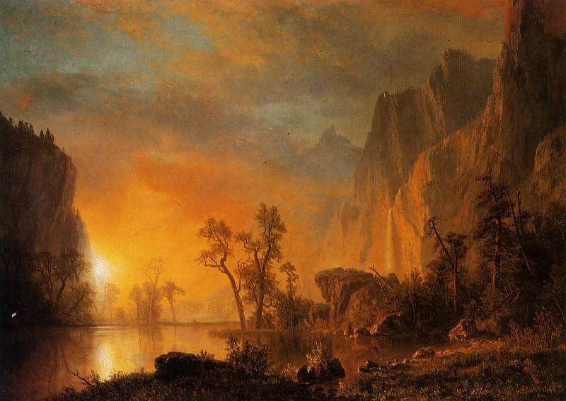 Sunset in the Rockies. Albert Bierstadt