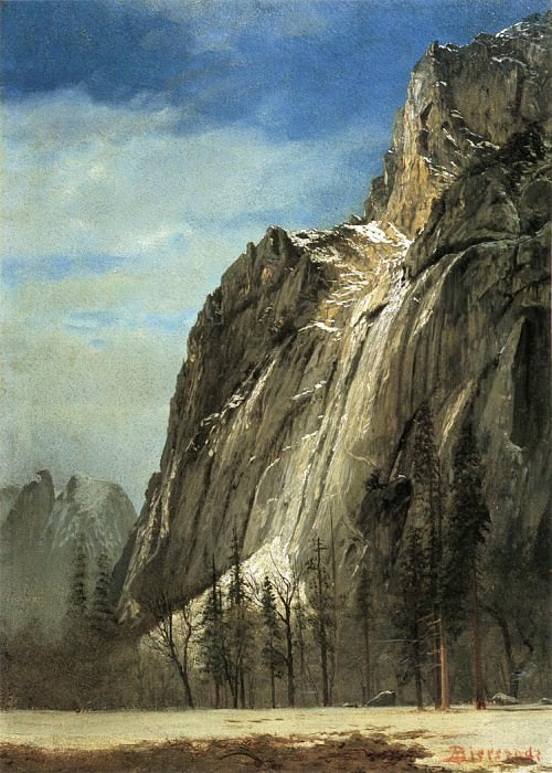 Cathedral Rocks A Yosemite View. Albert Bierstadt