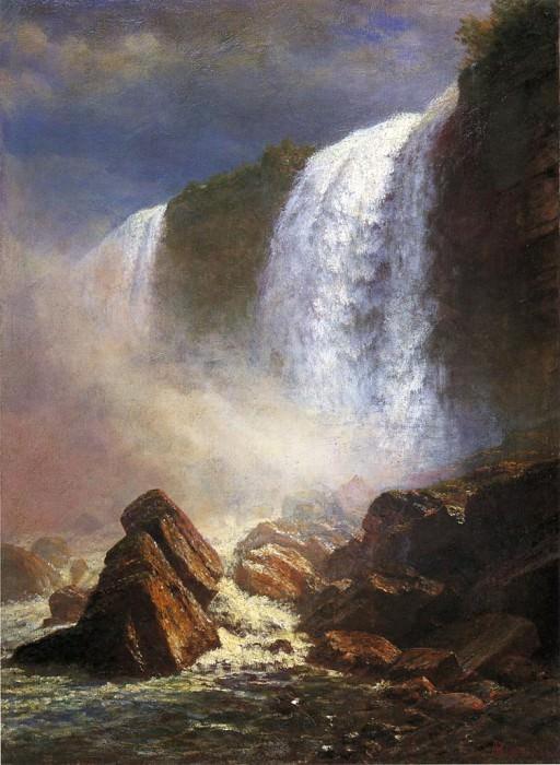 Вид снизу на водопад Ниагара. Альберт Бирштадт