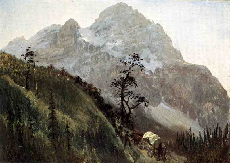 Western Trail the Rockies. Albert Bierstadt