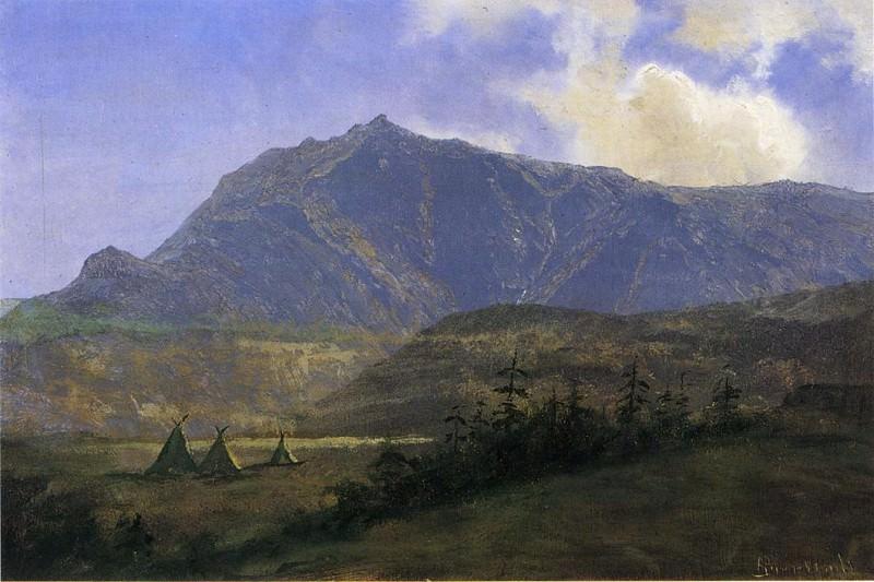 Индейская стоянка. Альберт Бирштадт