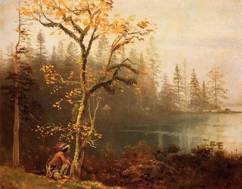 Indian Scout. Albert Bierstadt