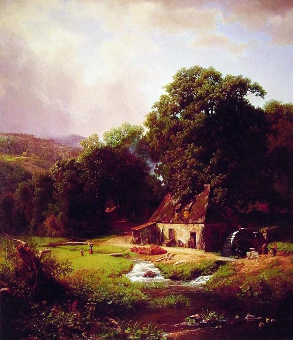 Старая водяная мельница. Альберт Бирштадт