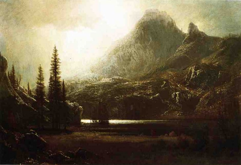 By a Mountain Lake. Albert Bierstadt
