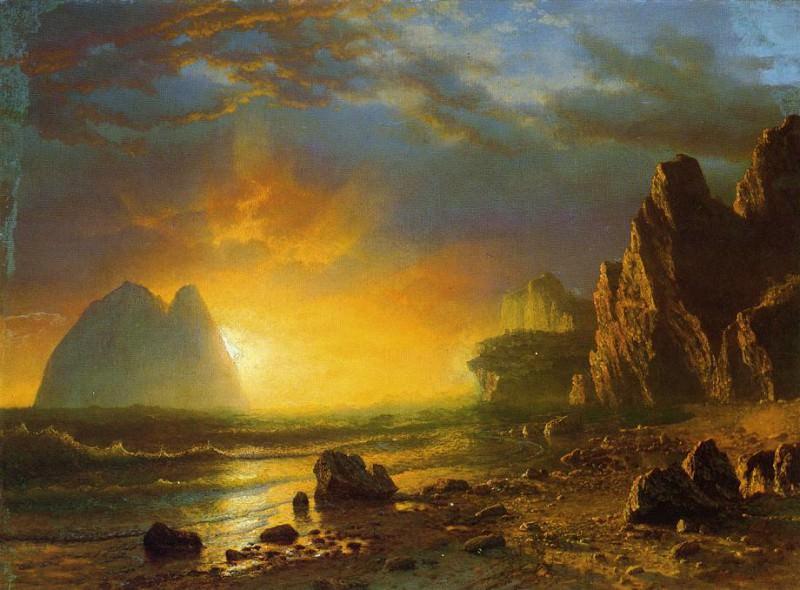 Восход на побережье. Альберт Бирштадт