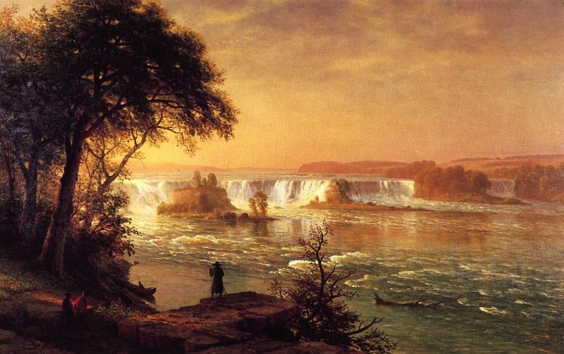 The Falls of St. Anthony. Albert Bierstadt