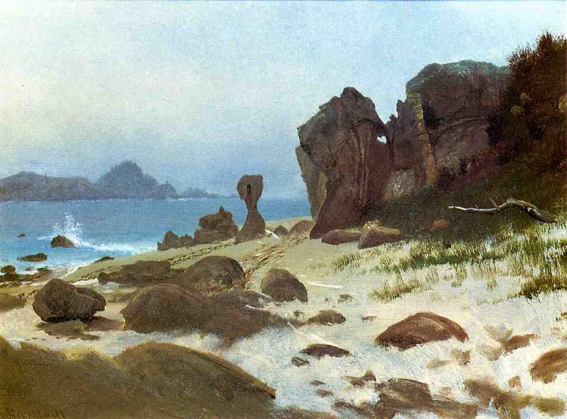 Bay of Monterey. Albert Bierstadt